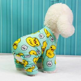 Cartazes cães on-line-Animal bonito posters cão pijama de algodão cão Macacão Roupa Chihuahua Yorkie Filhote de cachorro roupa para cão macacãozinho