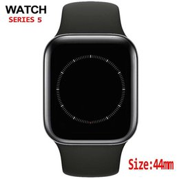 Sport-bluetooth-uhr online-W55 40MM 44MM iphone 12 pro Smart Watch Series 5 1to1 Bluetooth Smartwatch Herzfrequenz montre Sport Uhren goophone x android XS