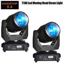 Freeshipping 2 pz / lotto Cina 75 W Led Moving Head Raggio Luminoso 15/19 Canali Led Stage Light Prosm Lente 8 Prisma Lens Beam Wash 2in1 da