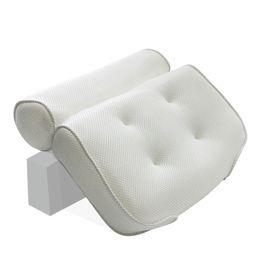 2019 copertine di cuscino di stampa zebra 3D Mesh Bagno Vasca da bagno Cuscino Antiscivolo Imbottito Vasca da bagno Spa Cuscino Schienale Poggiatesta Con ventose Collo Cuscino da bagno