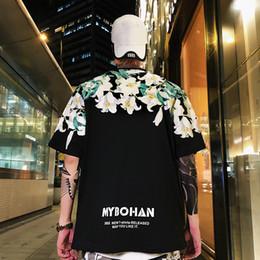 2019 tyga stampato magliette 2019 Fiori estivi T-shirt stampate Uomo Tees Harajuku Top Hip Hop Swag Tyga Casual T-shirt in cotone solido Streetwear tyga stampato magliette economici