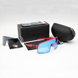 Gafas deportivas transparentes online-CALIENTE OO9406 Ciclismo Gafas de Sutro moda de los hombres polarizados TR90 gafas de sol al aire libre Deporte de vasos de 8 colorido, Polariezed, len transparente