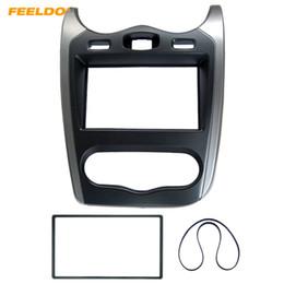 Kit renault online-FEELDO Car 2 DIN Radio Estéreo Panel de Placa de Fascia Marco para Renault Sandero 2013 Dash Kit de Montaje de Instalación # 5211
