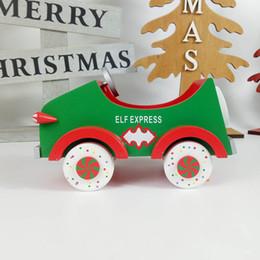 Jouets en bois mobiles en Ligne-Creative Noël Mini Voitures Mignonnes Articles D'ameublement En Bois Environnemental Jouets Exquis Exquis pour Enfants Décorations pour La Maison