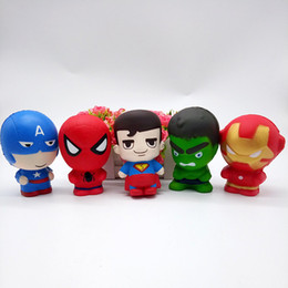 11cm Squishy Spider Man Slow Rising Cartoon Avengers Marvel Heros Capitán América Charm The Hulk Toys Superhero Squishy Toy para niños DHL desde fabricantes
