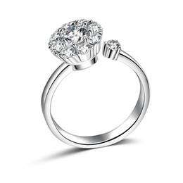 Argentina Sencillos anillos de boda románticos joyas de cristal anillo de diamantes de imitación para mujeres hombres 925 anillos de plata esterlina accesorios supplier silver jewelry for men Suministro