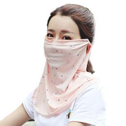 2019 máscara facial Meia face Ao Ar Livre Máscara Mulheres Verão Leve Sombrinha Protetor de Cobertura Do Pescoço Máscaras Decorativas Para Ciclismo máscara facial barato