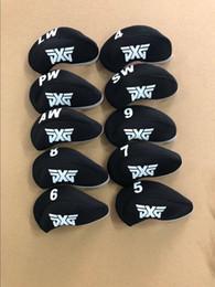 Deutschland 10 STÜCKE Golf Eisen Headcovers für PXG Club Head Covers Kappen 4-LW Black Protector Neu Versorgung