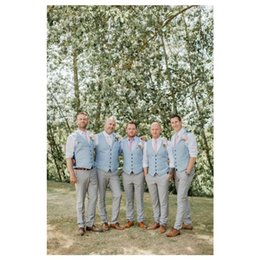 2019 terno formal do partido Noivo azul coletes para festa de casamento Slim Fit Mens coletes Custom Made Plus Size estilo britânico padrinhos desgaste terno colete terno formal do partido barato