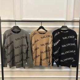 2019 homens de marca de luxo camisola 19SS Mens pulôver Homens Marca deisgner Hoodie longo da luva de luxo Designer camisola Carta Bordados Malha Roupa de inverno homens de marca de luxo camisola barato