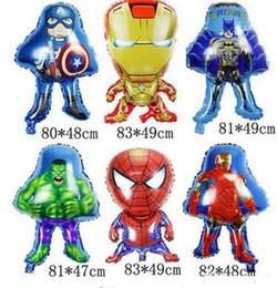 Ballon en aluminium film vert super-héros Captain America ballons en aluminium L'homme de fer décore le ballon 11 ? partir de fabricateur