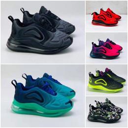 Cuenco de aire online-Nike air max 720 Kids Niño Niña Azul negro rojo gris de los deportes de alta calidad para bebés niños diseñadores de moda zapatillas de deporte de los zapatos de bolos size28-35