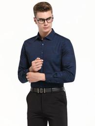 Chemises habillées en fibre de bambou en Ligne-2019 Printemps Hommes Fiber De Bambou Dress Chemises À Manches Longues Facile De Entretien Hommes Affaires Social Smart Casual Shirt