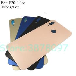 batteries pour alcatel Promotion 10pcs original batterie logement de couverture arrière pour Huawei P20 Lite Nova 3e arrière en verre châssis de porte de remplacement de porte de remplacement avec logo