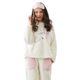 Argentina MYTL-Bu Nai Otoño Invierno Nuevos pijamas Moda de dos piezas con bolsillo Conjuntos casuales de pijamas para el servicio a domicilio Suministro