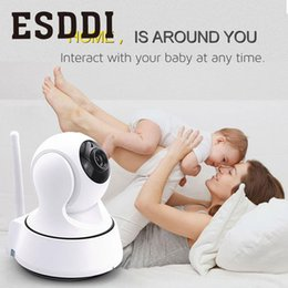nouveaux caméscopes professionnels Promotion Esddi New HD 720P 1.0MP WiFi Caméra réseau IP Caméra de surveillance pour bébé / animal de compagnie Professionnel Accueil Consommateur Caméscopes Cadeau