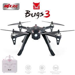 Helicóptero rc 4ch sin escobillas online-MJX B3 Bugs 3 RC Quadcopter Motor sin escobillas RTF de dos vías 2.4GHz 4CH con soporte de cámara de acción Profesional Dron Helicopter