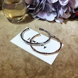 Pulseira de ouro branco senhoras on-line-Ruifan Branca Europeia / Rose Gold 100% 925 BraceletsBangles Pulseira de Prata Ladies' Open Pulseira ajustável para meninas YBR042