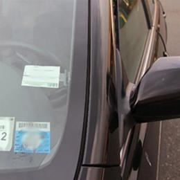 2019 audi a4 bracciolo 2pcs auto veicolo parcheggio biglietto permesso titolare clip adesivo parabrezza finestra temporizzazione documenti cartella all'ingrosso