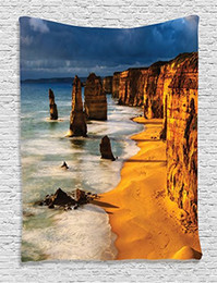 Grandi salotti online-Seaside Tapestry Twelve Apostles Australia Tramonto Great Ocean Road Coast Cliff by Sea Immagine Living Room Dorm Wall Hanging