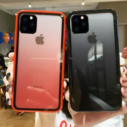 Caso di arcobaleno trasparente di iphone online-Per iPhone 11 Pro Max acrilico Gradient Cancella casse del telefono Arcobaleno protezione della copertura posteriore trasparente per Apple X XR XS Max 6 6s 6plus 7 8 8plus