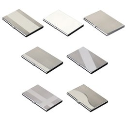 Titular profissional Cartão do metal de aço inoxidável bolso cartão de visita caso Magro Business Card portador para mulheres dos homens de Fornecedores de cartões de visita de metal preto por atacado