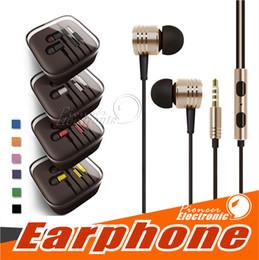 Pro-headset online-Universal 3,5mm metall für xiaomi kopfhörer headsets mit mikrofon stereo in-ohr kopfhörer für iphone 6 6s plus samsung tablet mp3 / 4 alle handy