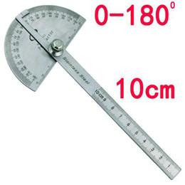 Tête ronde en acier inoxydable 180 degrés Rapporteur Angle Finder règle de mesure rotative Machiniste Outil Artisan Digital Ruler ? partir de fabricateur