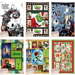 2019 bunny baby bettwäsche Weihnachten Grinch Decken 130 * 150cm 6 Styles Kinder verdicken Winter-Sherpa Plüsch Werfen Brief gedruckt weiche Decke OOA7378-1