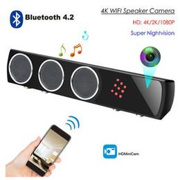 Deutschland Freies Verschiffen 1080p WIFI Bluetooth-Sprecher-Kamera-bewegliche Fernüberwachungskamera Bluetooth-Audiokamera-Liveansicht Versorgung