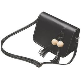Bolsas de contas on-line-Saco de ombro das mulheres Bead Tassel pingente de couro do vintage mensageiro Hobo Bag Handbag Satchel Purse Crossbody