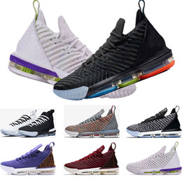 wholesale dealer 3fb4f fd14d james schuhe 12 Rabatt lebron james 16s Basketballschuhe 16 King Court  Purple Oreo FRISCHE BRED Triple