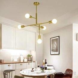 2019 fate luce porcellana Stile moderno semplice lampada a sospensione a sospensione LED minimalista nero / oro scala bar foyer soggiorno sala da pranzo appesa lampada da soffitto