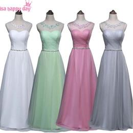 Nane yeşil mütevazı allık kızlar nedime elbise nedime için elbise tül boncuklu elbiseler abiye düğün olaylar nereden