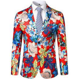 Свободный страус мода блейзер мужские куртки и пальто цветочный принт костюм зубчатый отворот тонкий подходят стильный пиджак блейзеры мужчины cheap stylish blazers fashion от Поставщики стильные блейзеры моды