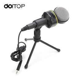alto-falantes de karaoke Desconto DOITOP SF-930 3,5 mm Wired Microfone Estéreo Karaoke Speaker Limpar Digital Sound Condensador Mic para pc computador portátil A3