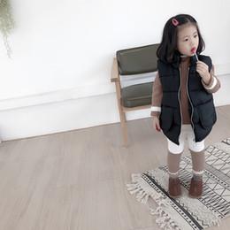 coreano moda crianças inverno casacos Desconto Roupa Crianças 2019 Inverno Nova Moda coreano meninos e meninas Casual Colete Crianças Aqueça Coats Jackets Criança Coletes Outwear