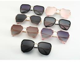 2bee51a7c1 2019 nuevas gafas de sol polarizadas cara redonda damas gafas de sol mujer  marea gafas anti-uv versión coreana de gafas de cara grandes al por mayor
