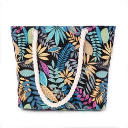 68b36770be31 New Arrival Foldable Shopping Bags Zipper Portable Leaf Prints Shopping  Totes Bag Large Capacity Reusable Handbags for women