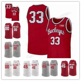 camiseta estatal de ohio personalizada Rebajas Ohio State Buckeyes 35 Gary Bradds 27 Fred Taylor 23 LeBron James Greg Oden Personalizado Cualquier nombre Cualquier número NCAA Baloncesto Hombres Jerseys