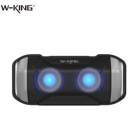W-KING 10 W Açık Bluetooth Hoparlör S21 Wateproof IPX5 Portablet Cep Telefonları için LED Işık ile Kablosuz Bisiklet Hoparlör nereden hafif kral tedarikçiler