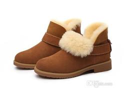 botas de neve roxas para mulheres Desconto 2019 venda Quente design Clássico Top Real Austrália pele de cabra pele de carneiro botas de neve Martin botas curtas mulheres botas manter sapatos quentes Frete grátis