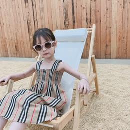 Yaz Kızlar Sling Çizgili Elbise Pamuk Ekose Elbise Moda Plaj Bikini / Toptan Pamuk T-Shirt Kısa Kollu Ekose Gömlek nereden