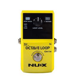 Gitarrenschleife online-NUX-Octave-Loop-Looper-Pedal mit -1 Octave-Effekt Unendliche Ebenen mit Bass-Line-True-Bypass-Gitarrenpedaleffekt