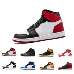 new products dc425 31c84 Mens 1s Top Pine Green Court Lila Chicago OG 1 Spiel Royal Blue Basketball-Schuhe  Rückwand Sport Sneaker Designer Trainer Größe 7-12