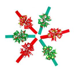 Fasce di capelli occidentali online-Vendita calda Elastic Baby Headband Western Christmas Day regalo Kids Headwear Natale Party Dress Decorazione dei capelli
