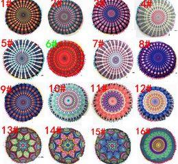 Cojín redondo Fundas de almohada Mandala Meditación Funda de almohada Sofá Cojín Funda de cojín Bohemio Fundas de almohada 32 diseños desde fabricantes