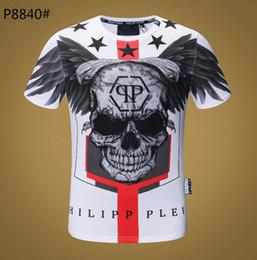 2019 Moda P Perforación en caliente Cráneos Camiseta para hombre Ropa Camisetas Para Hombres Tops Camiseta de manga corta-13 desde fabricantes