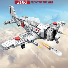 2019 ladrillos juguetes ejército SEMBO 12781 432 UNIDS Army Military Series Classic Fighter ZERO Type Building Blocks MOC Bricks Assembly Plane Model Kids Toys rebajas ladrillos juguetes ejército