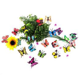 клубничные картины Скидка Золушка бабочка 3d бабочка украшения стены стикеры 3d бабочка пвх съемные стикеры стены бабочки в